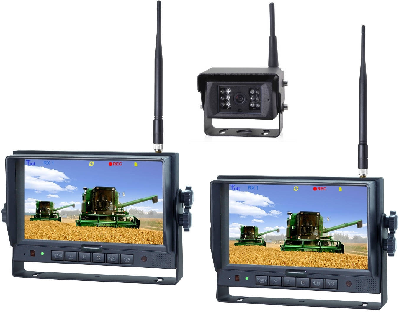 """Picture of 7"""" Digital Wireless Camera System - Multiple Monitors"""